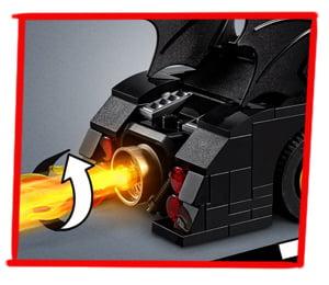 Tubo de escape del Batmóvil en llamas en LEGO DC Batmobile: La Persecución del Joker (76119)