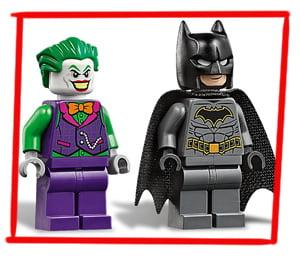 Batman y Joker en este LEGO del Batmóvil