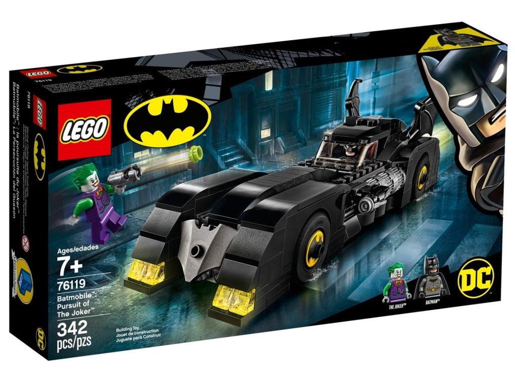Caja del LEGO DC Batmobile: La Persecución del Joker (76119)