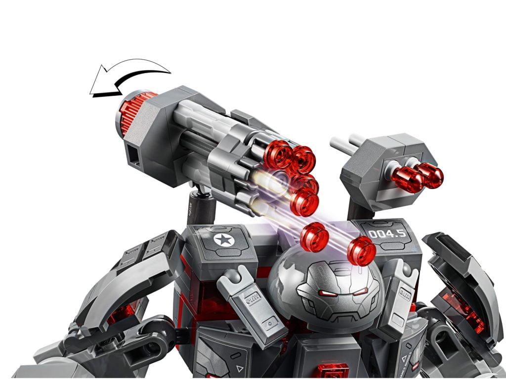 Detalle de los cañones del LEGO Depredador de Maquina de Guerra
