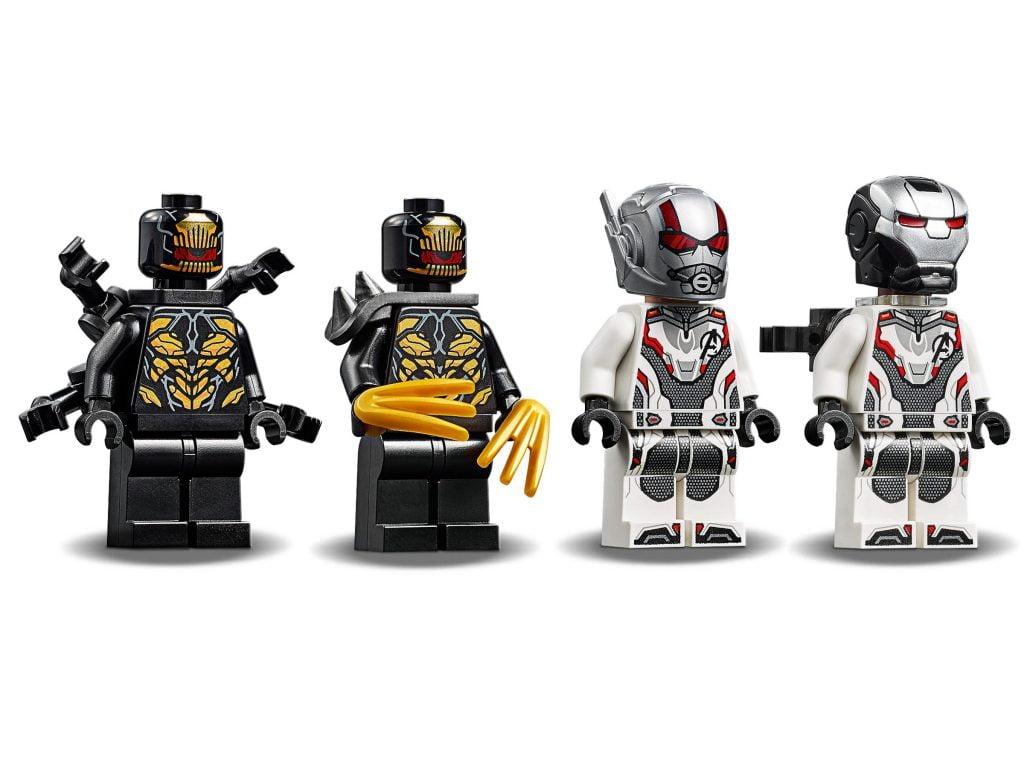La cuatro figuras que incluye el Depredador de Maquina de Guerra LEGO (76124)