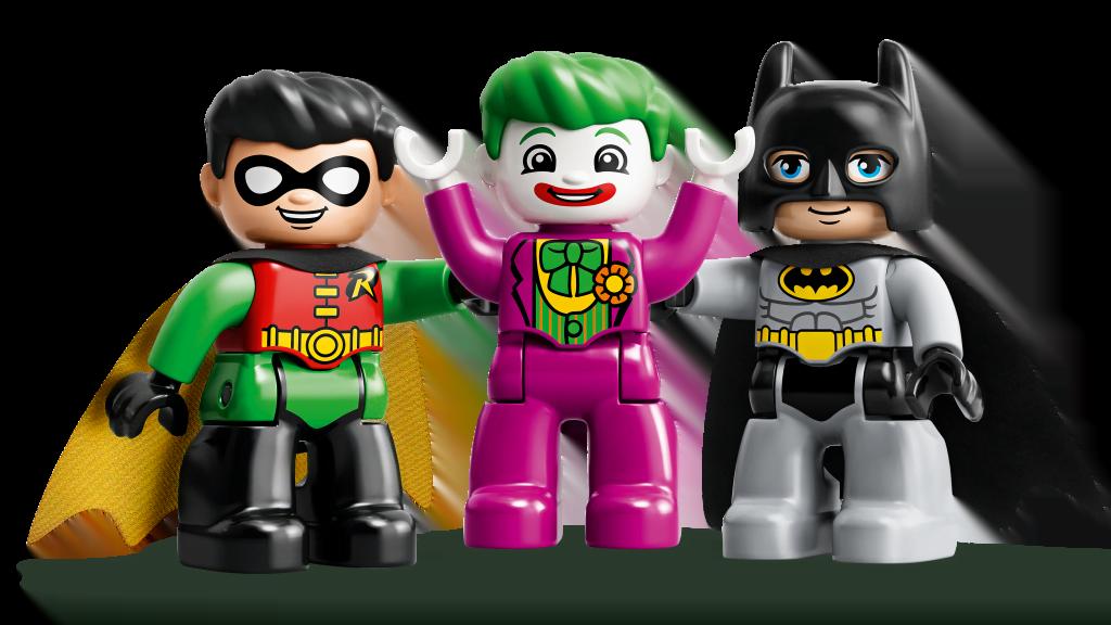 Imagen de Robin, Joker y Batman en versión LEGO Duplo
