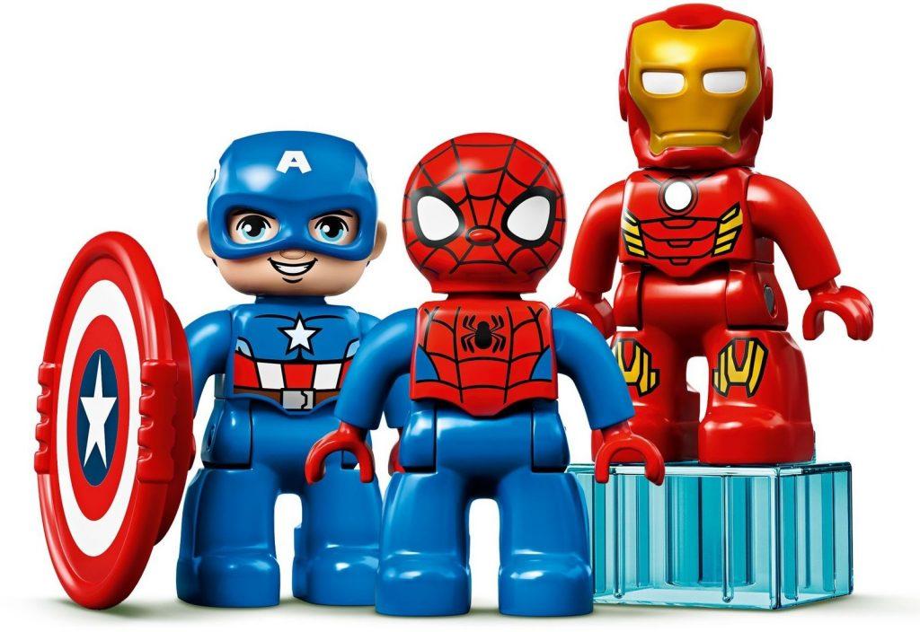 Imagen de Capitán América, Spider-Man y Iron Man en versión LEGO Duplo