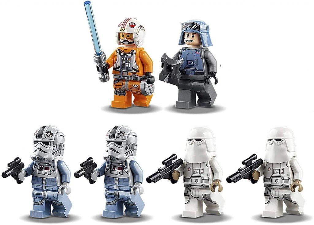Image de las minifiguras que incluye el LEGO Star Wars AT-AT (75288)