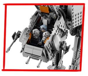 Imagen de la cabina interior del LEGO Caminante AT-AT (75288)