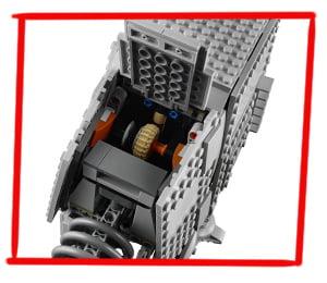 Imagen de la escotilla interior del LEGO Caminante AT-AT (75288)