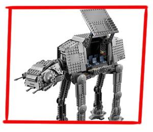 Imagen de los paneles desplegables del LEGO Caminante AT-AT (75288)