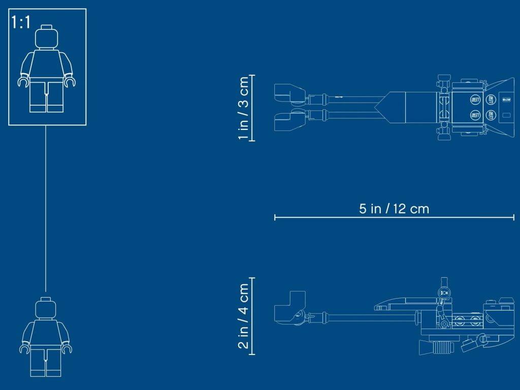 Plano de la Moto Speeder del LEGO Caminante AT-AT 75288