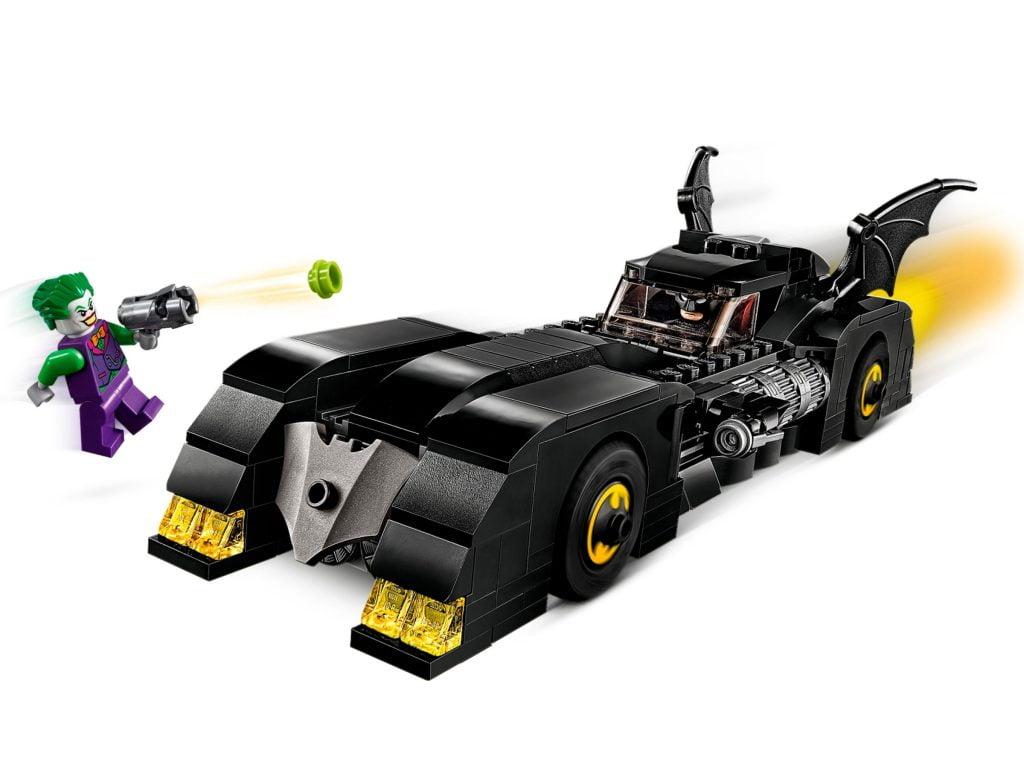 Set de LEGO dedicado al coche de Batman, el Batmóvil