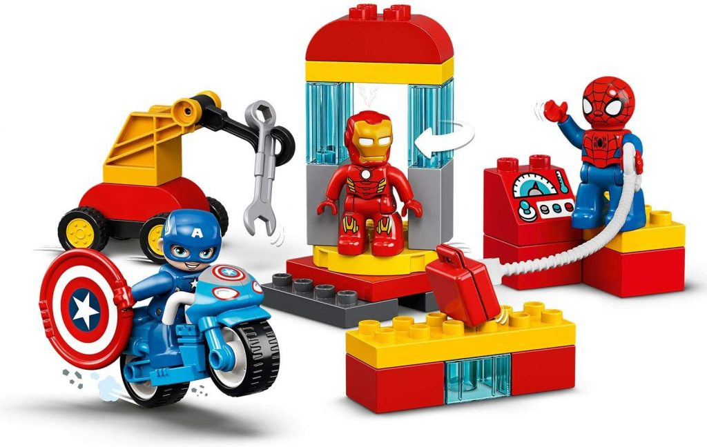 Capitán América, Spider-Man y Iron Man en acción en versión LEGO Duplo