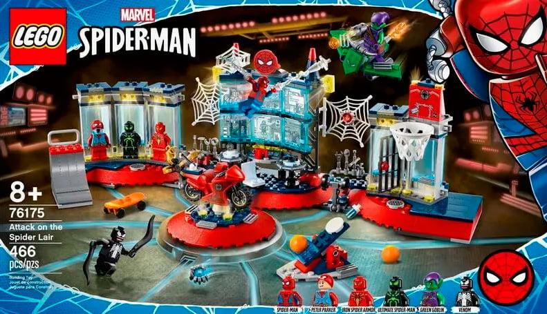 Caja del LEGO Attack on the Spider Lair (76175)