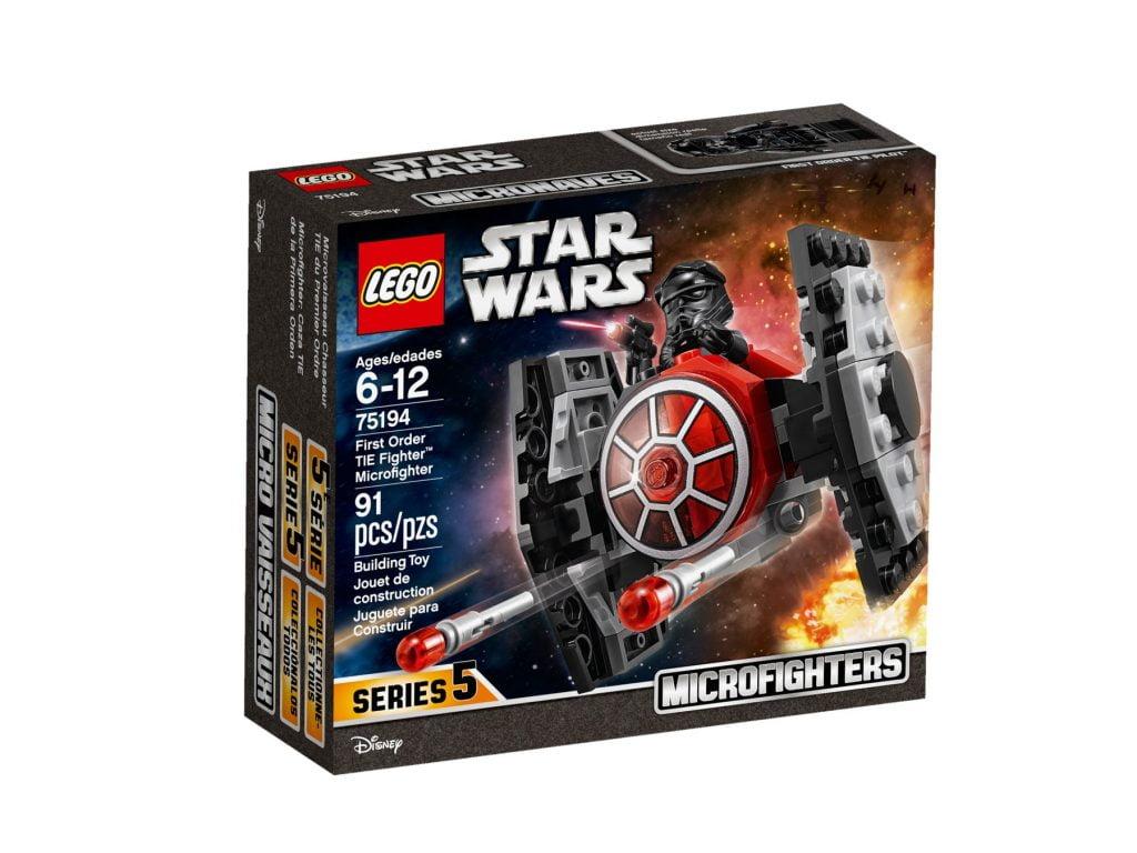 Imagen de la caja del LEGO Microfighter: Caza TIE de la Primera Orden (75194)