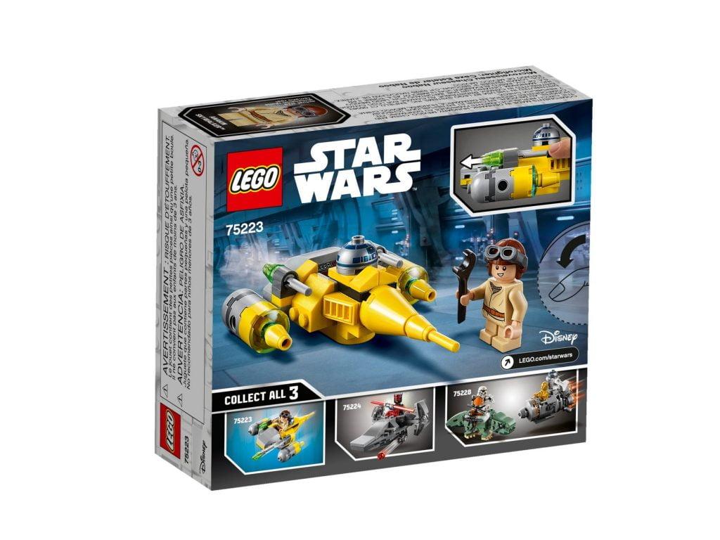 Reverso de la caja del LEGO Microfighter: Caza Estelar de Naboo (75223)