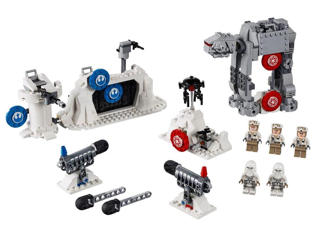 Detalle de los contenidos del LEGO Action Battle: Defensa de la Base Eco (75241)