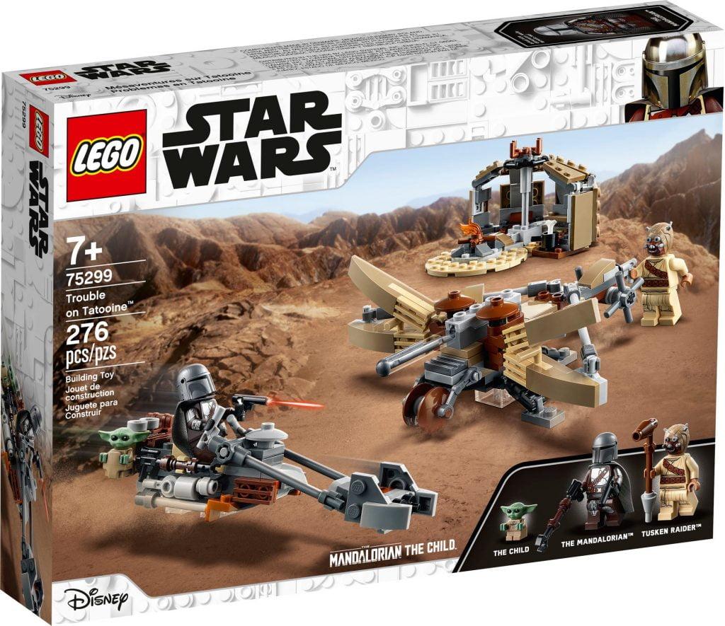 Caja del LEGO The Mandalorian & Baby Yoda: Trouble on Tatooine (75299)