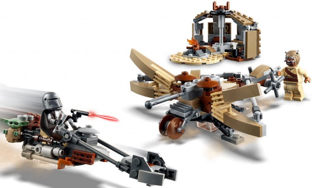 Imagen del LEGO The Mandalorian & Baby Yoda: Trouble on Tatooine (75299)
