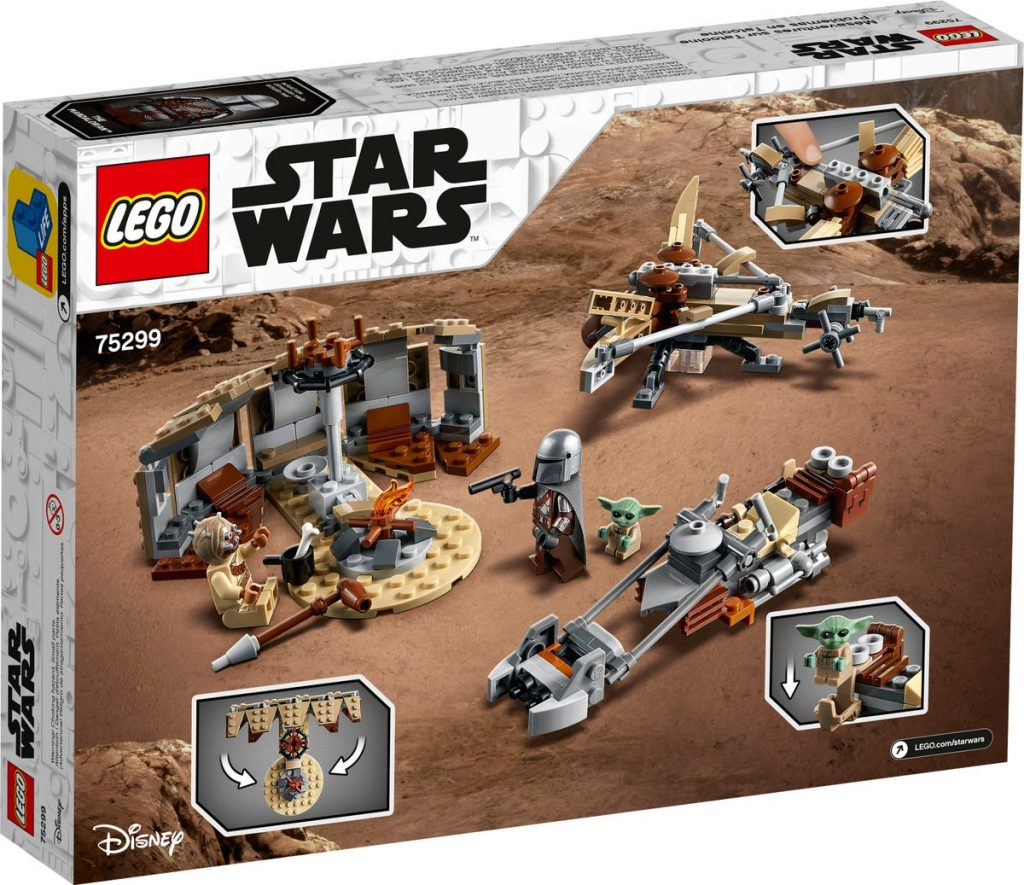 Caja por detrás del LEGO The Mandalorian & Baby Yoda: Trouble on Tatooine (75299)