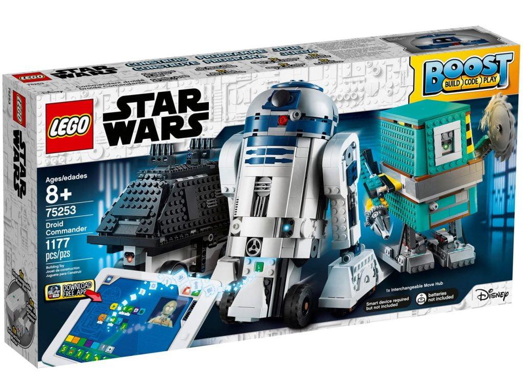 Imagen de la caja del LEGO R2-D2 Star Wars Boots: Comandante Droide (75253)