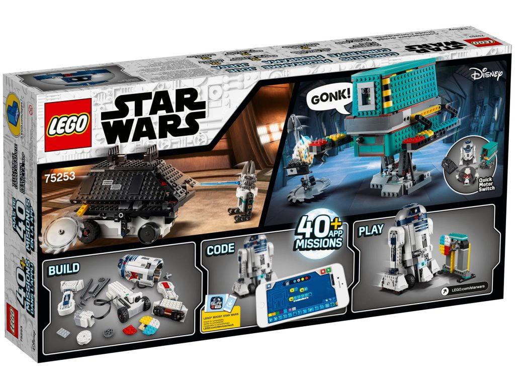 Anverso de la caja del LEGO R2-D2 Star Wars Boots: Comandante Droide (75253) por piezas
