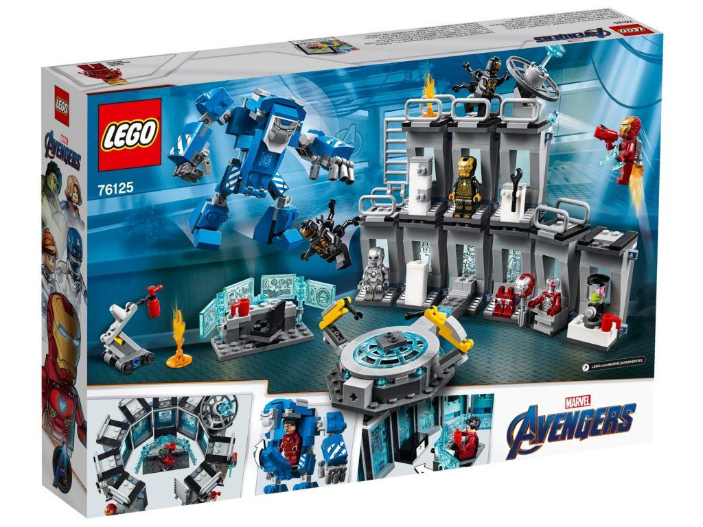 Caja Reverso LEGO Marvel Iron Man Sala de Armaduras (76125)