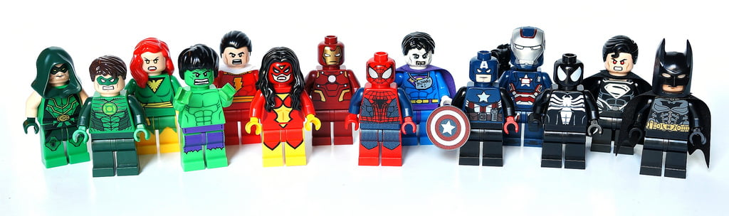 Imagen coral de LEGO Superhéroes