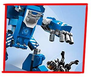 Brazos articulados de la armadura IGOR de Iron Man en LEGO