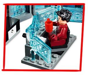 Mesa giratoria para Tony Stark en set LEGO de Iron Man