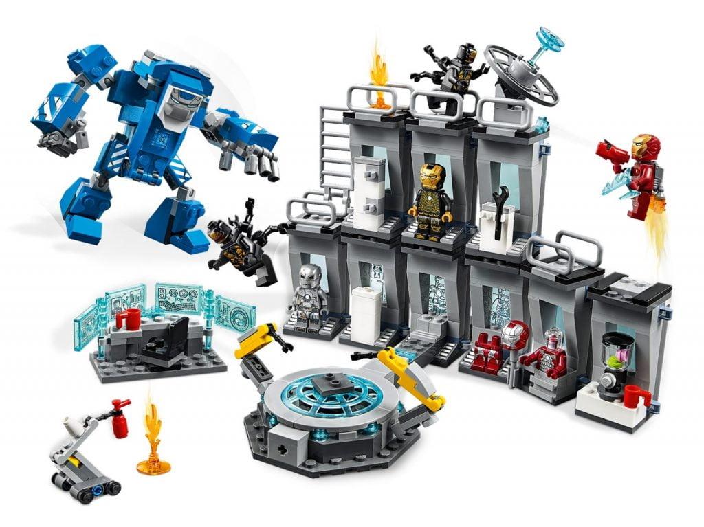 Set de LEGO de las armaduras de Iron Man