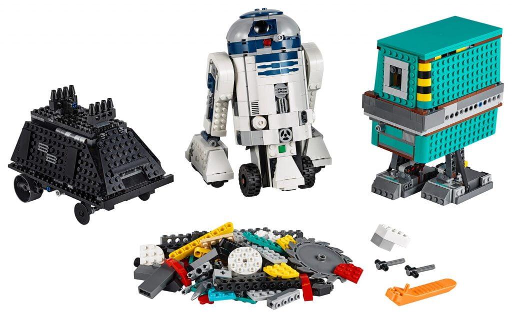 Los tres droides incluidos en LEGO R2-D2 Star Wars Boots: Comandante Droide (75253) por piezas