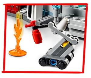 Robot articulado ayudante de Iron Man en formato LEGO