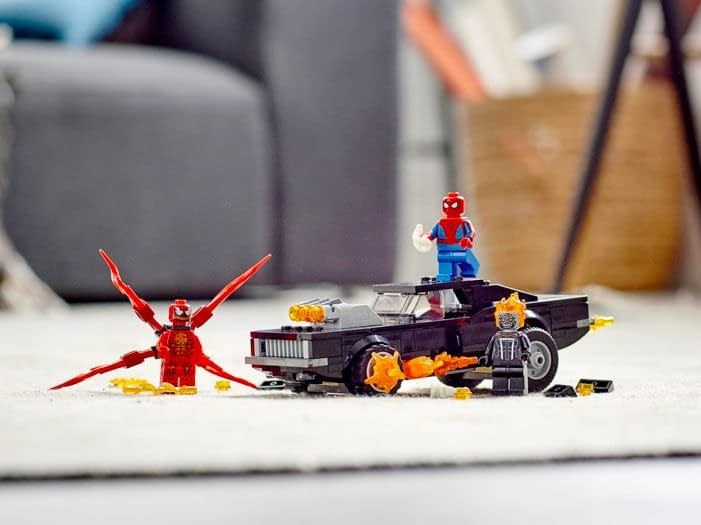 Vistazo al LEGO Spider-Man and Ghost Rider vs. Carnage (76173) en acción