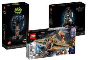Imagen montaje del LEGO 76238, 75296 y 76237